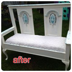 Gorgeous 1920's Bed repurposed by Vintage Treasures Capalaba into bench seat.