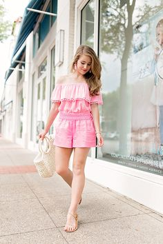 Pink Linen Shorts Under $50 By Lonestar Southern