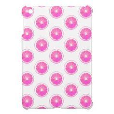 Pink Lemonade Polka Dot Pattern iPad Mini Cases