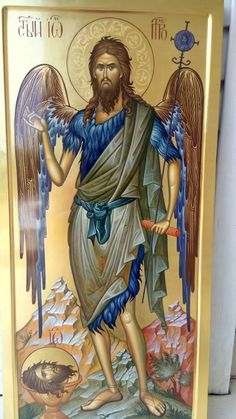 Saint John the Baptist Byzantine Icons, Orthodox Christianity, John The Baptist, Paintings I Love, Orthodox Icons, Saints, Religious Art, Religion, Saint John