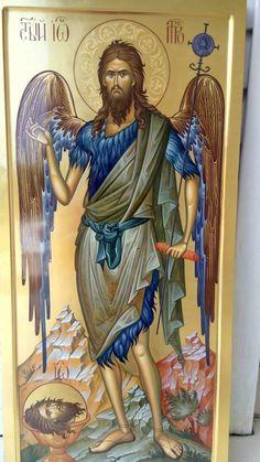 Saint John the Baptist Byzantine Icons, Orthodox Christianity, John The Baptist, Paintings I Love, Orthodox Icons, Saints, Religious Art, Religion, Saint John