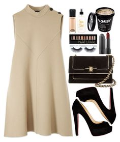 """""""Show Them What You Are Made Of!"""" by designbecky ❤ liked on Polyvore featuring Derek Lam, Christian Louboutin, Salvatore Ferragamo, Forever 21 and MAC Cosmetics"""