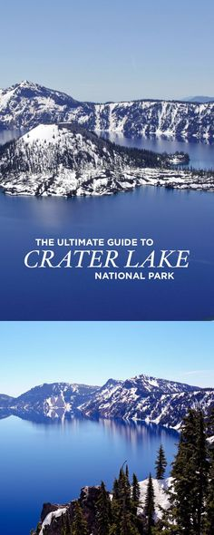 The Ultimate Guide to Crater Lake National Park Oregon Crater Lake National Park is the only major national park in Oregon but worth the visit. Here is The Ultimate Guide to Crater Lake National Park Oregon. Oregon Usa, Oregon Lakes, Crater Lake Oregon, Central Oregon, Portland Oregon, Oregon Coast Camping, Oregon Road Trip, Oregon Travel, Travel Usa