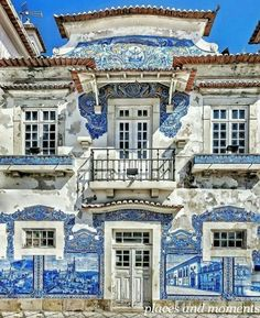 Azulejos mood ~ Aveiro, Portugal Photo: Congrats 💖 Founders: 🚩Have you ever visited this enchanting city? Cascais Portugal, Visit Portugal, Spain And Portugal, Road Trip Portugal, Portugal Travel, Places To Travel, Places To Go, Travel Destinations, Old Train Station