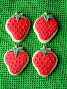 Strawberries (Decorated Cookies)