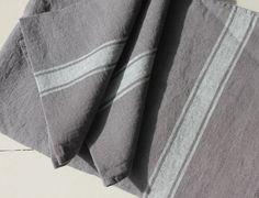 Vivario Stone Washed Linen Tablecloth, Napkin, Teatowel