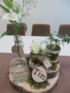 Tischdekoration Konfirmation / centerpieces konfirmation