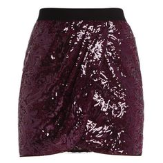 JOANNE FLORAL GARDEN SEQUIN WRAP SKIRT (€200) ❤ liked on Polyvore featuring skirts, bottoms, faldas, jupes, hi lo skirt, purple sequin skirt, purple high low skirt, sequin skirt and wrap skirt