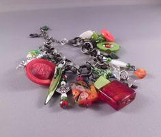 Christmas Charm Bracelet by CustomDynamite on Etsy, $20.00