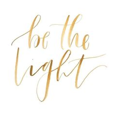 font Be the light
