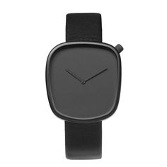 Pebble watch by KiBiSi for Danish brand Bulbul, inspired by pebbles found on Scandinavian beaches and available in four colours at Dezeen Watch Store. Modern Watches, Cool Watches, Watches For Men, Black Watches, Unique Watches, Dezeen Watch Store, Pebble Watch, Mens Designer Watches, Mens Watches Leather