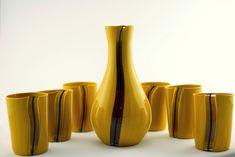 """Handmade Murano Glass Blown Drinking Glasses """"VASO ERDI"""" (€55 each) Murano Glass, Boats, Drinking, Vase, Glasses, Handmade, Home Decor, Eyewear, Beverage"""