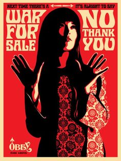 ☯☮ॐ American Hippie Psychedelic Art ~ No War - OBEY Shepard Fairey street artist . revolution OBEY style, street graffiti, illustration and design posters. Shepard Fairy, Shepard Fairey Obey, Obey Art, Street Art Graffiti, Street Artists, Les Oeuvres, Screen Printing, Creations, Fine Art