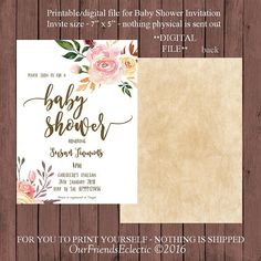 Floral baby shower game celebrity baby name game printable boho baby shower invitation floral baby shower invitation filmwisefo