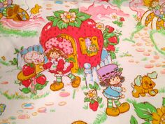 STRAWBERRY SHORTCAKE 1980's Twin Flat Bed by ClosetsOverflowing, $15.00