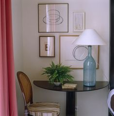 "Love this semi-circular table ""nook"" or reading spot."