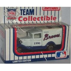 Atlanta Braves 1990 Matchbox MLB Diecast Ford Model A Truck White Rose Collectible Toy Car 1:64 Scale by MLB  $18.59