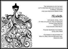 Wedding Dress - Bridal Shower Invite | Printable Invitation Kits