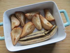 Pečený banán s hruškami