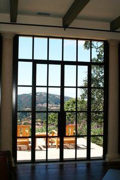 Metal framed single doors
