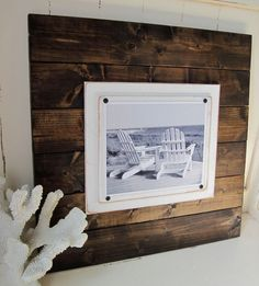 Set of 3 Xtra Large Dark Stained Plank Frames for 8x10. $189.00, via Etsy.