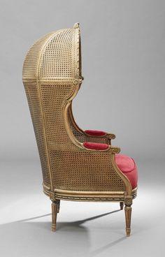 Louis XVI-Style Fruitwood Porter's Chair, 20th c.