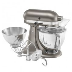 KitchenAid Architect Cocoa Silver Color Footed Mixer. Linenchest.com: ELECTRICS / Mixers / Footed Mixers /