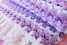Crochet PATTERN - Baby Blanket Crochet Pattern - Lilac Mosaic Baby Blanket With Fringe - Easy Pattern- Instant Download - Lyubava Pattern 54