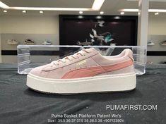 f4cb392c79f Puma Basket Platform Patent Wns Rihanna 363906-06 Casual Sneaker Pink Size  907123 Top Deals