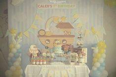 Noah's Ark themed 1st birthday party via Kara's Party Ideas KarasPartyIdeas.com Printables, cake, decor, cupcakes, recipes, favors, etc! #noahsark #animalparty #noahsarkparty (10)