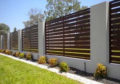 wood finish fence screen