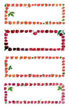 Avery Zweckform Z-Design No. 59693 papír matrica befőttes üvegre - földieper, cseresznye, málna képekkel - kiszerelés: 3 ív / csomag (Avery Z-Design 59693) Pots, Canning Labels, Recipe Cards, Tea Towels, Clip Art, Templates, Crafts, Printable, Cookies