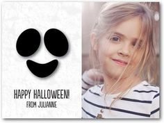 Send a ghostly beautiful Halloween card for kids that will spook your friends and family.