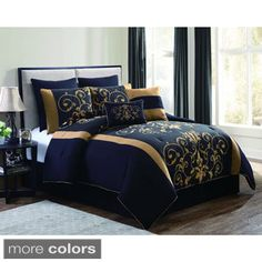Check out this King Comforter Set Black Gold Bed Bag Floral Damask Bedding Pillow Shams NEW in Home & Garden, Bedding, Comforters & Sets King Size Comforters, Queen Comforter Sets, Bedding Sets, Bed Sets, Damask Bedding, Gold Comforter, Luxury Bedding, Duvet, Scraps Quilt