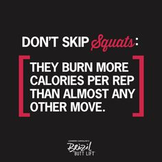 Dont skip #squats! :) I have a love hate relationship with squats!!!!!