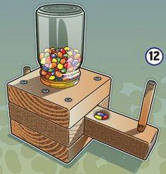 Como hacer un dispensador de caramelos paso a paso Facil y muy beno