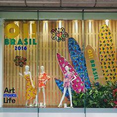 "SEIBU SHIBUYA, Japan, ""Salty hair, coconut oil, big waves, hot sun"",  for Brazil Promotion, artwork by Romero Britto, pinned by Ton van der Veer"
