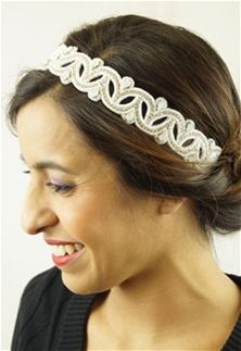 Pink+Pewter+Tracy+Stretch+Headband+in+White