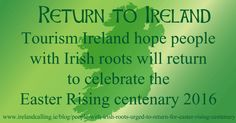 Appeal for Irish to return for Easter Rising centenary