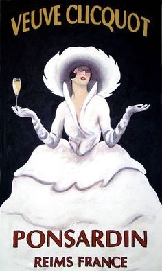 Publicité Alcool : Champagne Veuve Clicquot: Oil on Canvas by Ann-Marie Graves Retro Poster, Vintage Posters, Poster Art, Champagne Images, Vintage Champagne, Wine Advertising, Advertising Poster, Pub Vintage, Vintage Labels