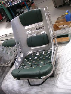 Redneck-fabricated bomber seat