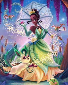Princesas Disney em Pokémon GO Disney Magic, Tiana Disney, Disney Girls, Disney Fan Art, Disney Nerd, Disney Love, Princesa Tiana, Disney E Dreamworks, Disney Pixar