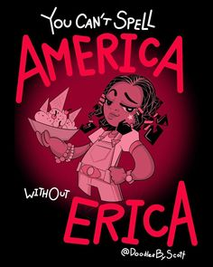 Stranger Things You Cant Spell America Without Erica by Scott Lilly doodlesbyscottj Priah Ferguson Season 3 fanart fan art Scoops Troop Stranger Things Netflix, Stranger Things Actors, Stranger Things Quote, Stranger Things Have Happened, Stranger Things Aesthetic, Stranger Things Season 3, Stranger Danger, Film Serie, Cute Wallpapers