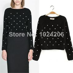 Free Shipping New 2014 Women Spring Autumn Korean Style Fashion Long Sleeve Hollow Out Knitwear High Waist Knitted Sweater $23.99