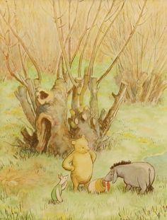 Eeyore is Happy Print, Vintage & Classic Winnie the Pooh, Nursery Print