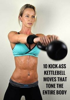 Sculpt your body fast with this kettlebell workout. Sculpt your body fast with this kettlebell workout. Full Body Workouts, Fitness Workouts, Sport Fitness, Moda Fitness, Fitness Diet, Health Fitness, Workout Kettlebell, Kettlebell Challenge, Kettlebell Benefits