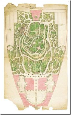 Plan For Converting The Garden Of Liechtenstein Palace At Rossau Into An English Landscape By Philipp Prohaska C