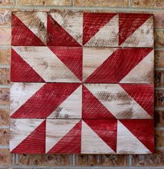 Image of Hidden Star Barn Quilt - Red