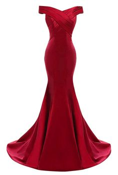 Yinyyinhs Womens Evening Dress Off Shoulder Ruffles Mermaid Formal Prom Gowns Size 10 Burgundy -- To view better for this product, see the picture link. (This is an affiliate link). Women's Evening Dresses, Sexy Dresses, Beautiful Dresses, Fashion Dresses, Formal Dresses, Formal Prom, Ruffle Dress, I Dress, Ruffles
