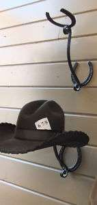 Horse shoe hat rack